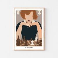 Gambit królowej!♟Ostatnio mój ulubiony serial, który nie może mi wypaść z głowy, na tyle, że musiałam zaprojektować plakat😌Uwielbiam ten klimat, aktorów i sam wątek...Kto jeszcze nie widział #gambitkrólowej zazdroszczę! A dla fanów mam plakat, dostępy niebawem w różnych formatach ✨#gambitkrólowej #thequeensgambit #serial #plakatydekoracyjne #plakat #poster #gambit #szachy #art #love #showyourwork #serialnetflix #netflix